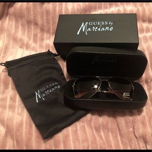 Guess by Marciano Aviator Sunglasses
